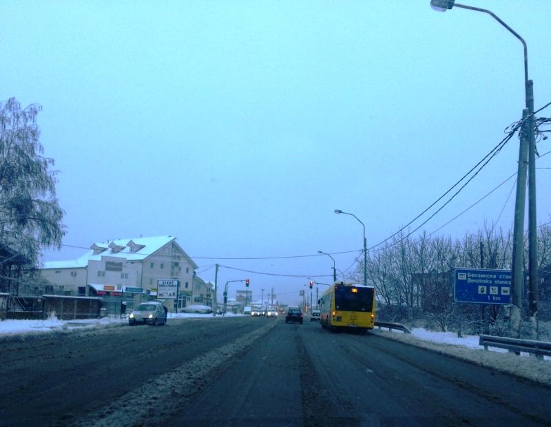 U Beogradu prvi sneg prvo pao ne levoj obali