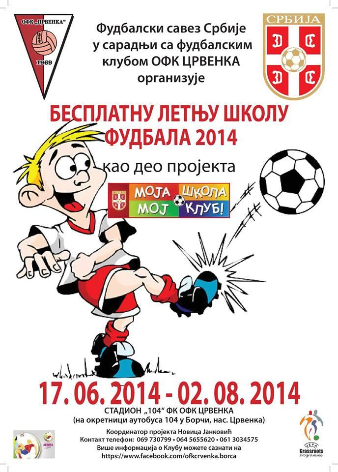 OFK Crvenka organizuje besplatnu letnju školu fudbala