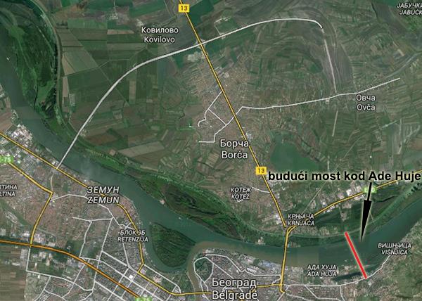 Budući most preko Dunava kod Ade Huje - LOBI