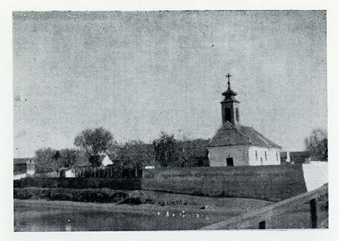 Slika crkve u Borči - 1952. godina