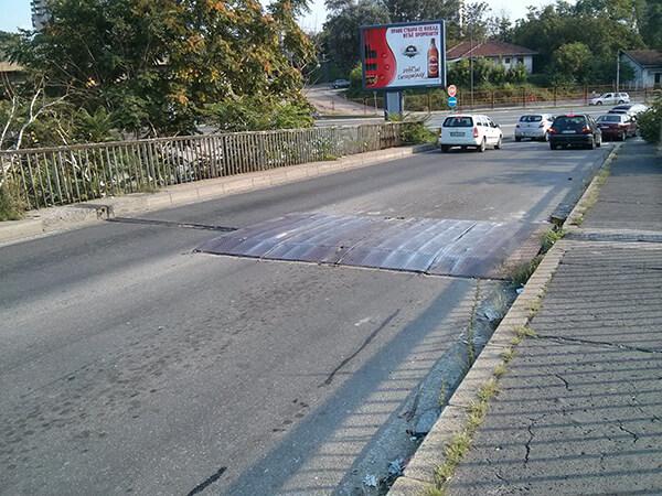Ležeći policajac na Pančevačkom mostu