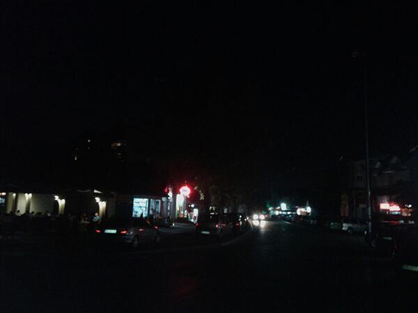Borča ulična rasveta mrak