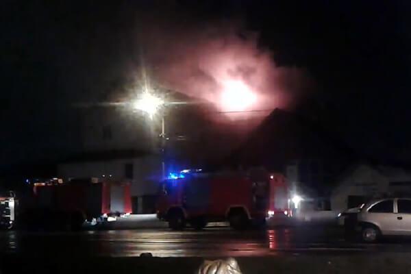 Veliki požar u potkrovlju kuće u Krnjači - 2014