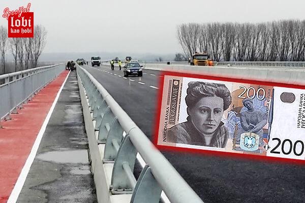 Prelazak kolima preko novog mosta na crno za samo 200 dinara