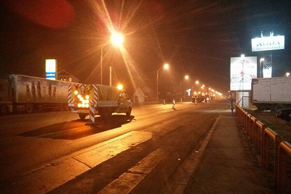 Počela noćna obnova Zrenjaninskog puta u smeru ka Borči - 2015