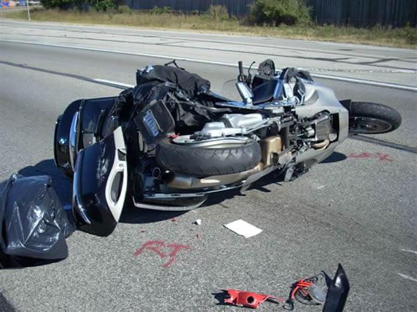 Oboren motociklista, saobraćajna nesreća, LOBI
