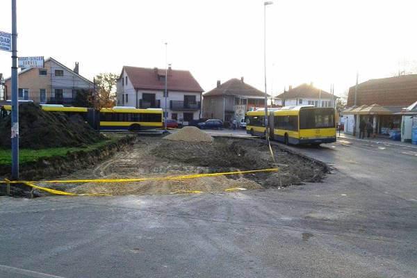 Proširenje okretnice autobusa 85, 95, 96 i 105L u Borči - 2015