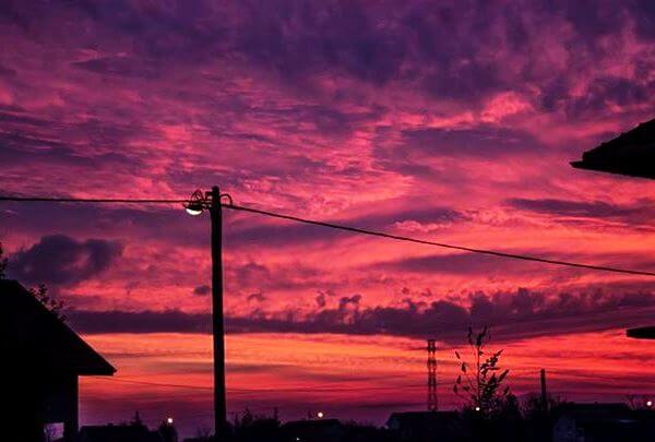 Jučerašnji FANTASTIČNI zalazak sunca na levoj obali - 09.11.2015