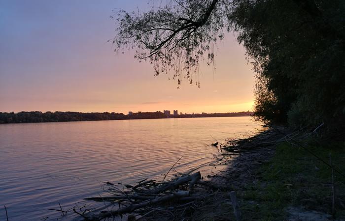 zalazak sunca leva obala, Dunav, LOBI